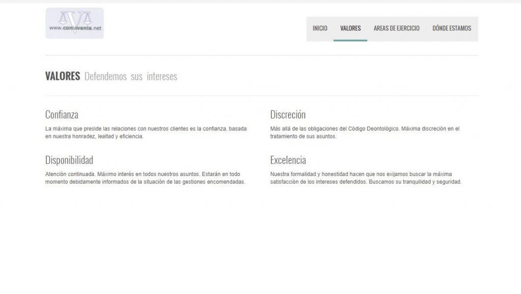 Desarrollo de la web corporativa de Con La Venia