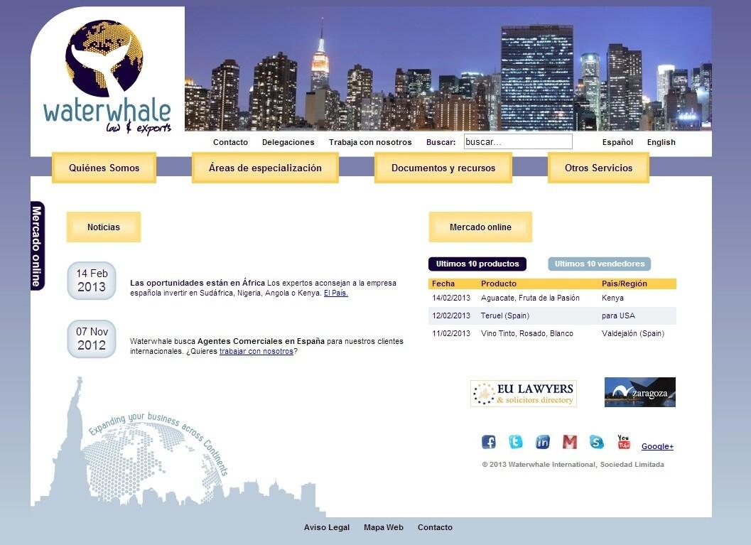 Waterwhale International - Web corporativa